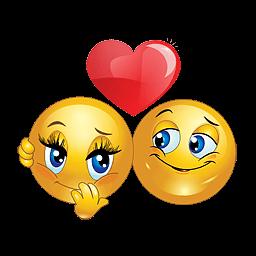 liefdes smilie met rood hartje smiley emoticon