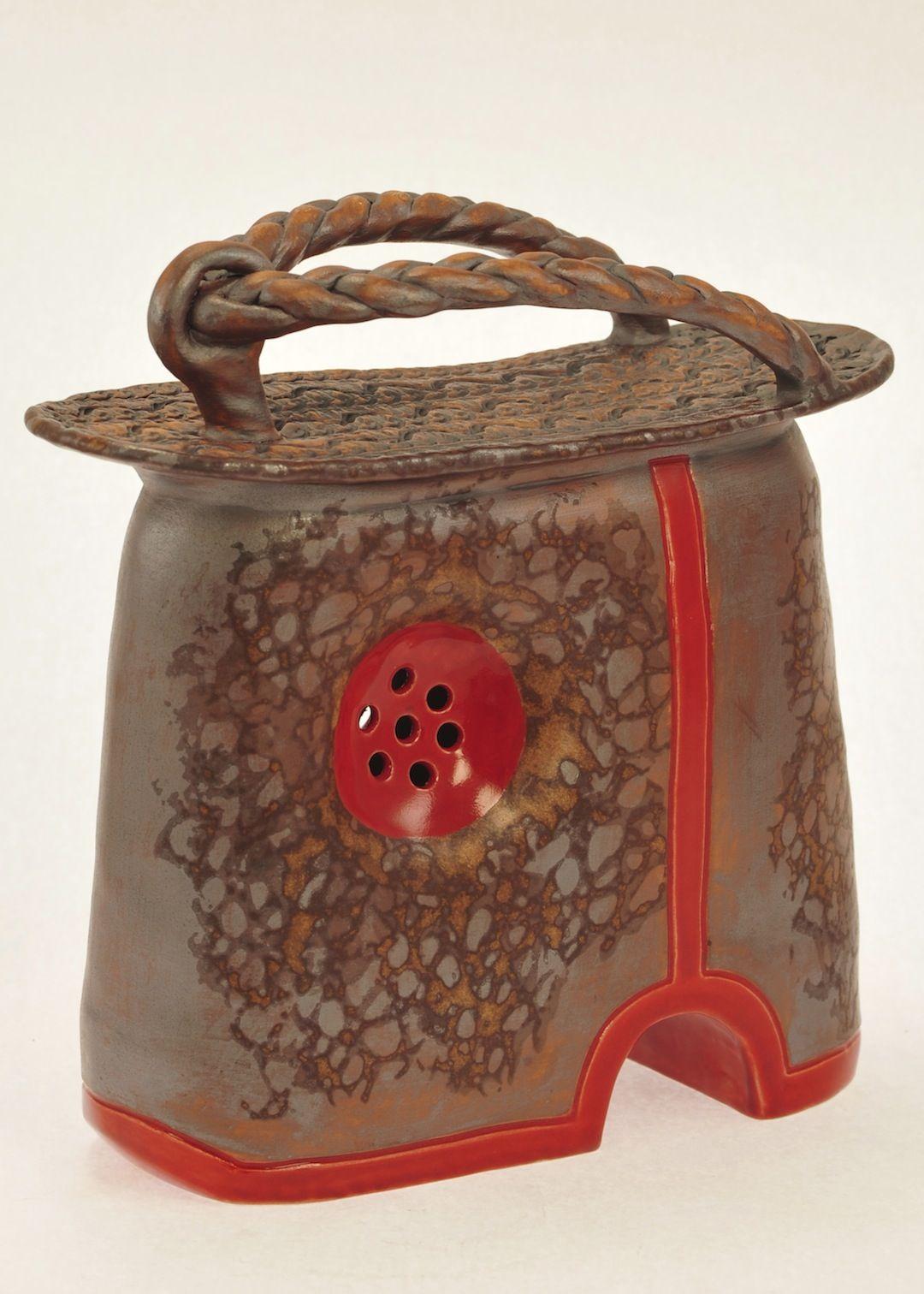 Japanese High-platform Shoe Ceramic art by Kathy Hintz