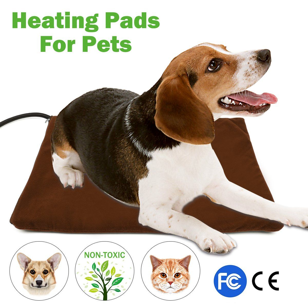 Pet Heating Pad NuoYo Electric Heating Pad for Dogs and