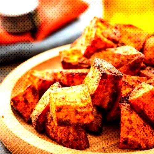 Roasted Air Fryer Sweet Potatoes are a quick and easy side dish recipe prepared in your air fryer.