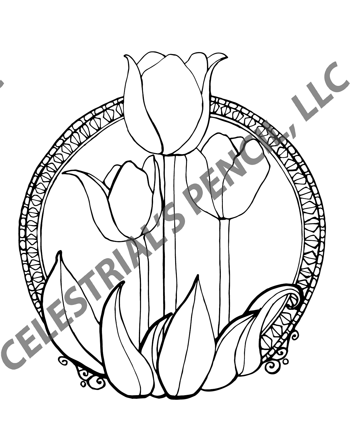 Coloring summer activities - Page From Spring Into Summer Coloring Activity Book Tulips
