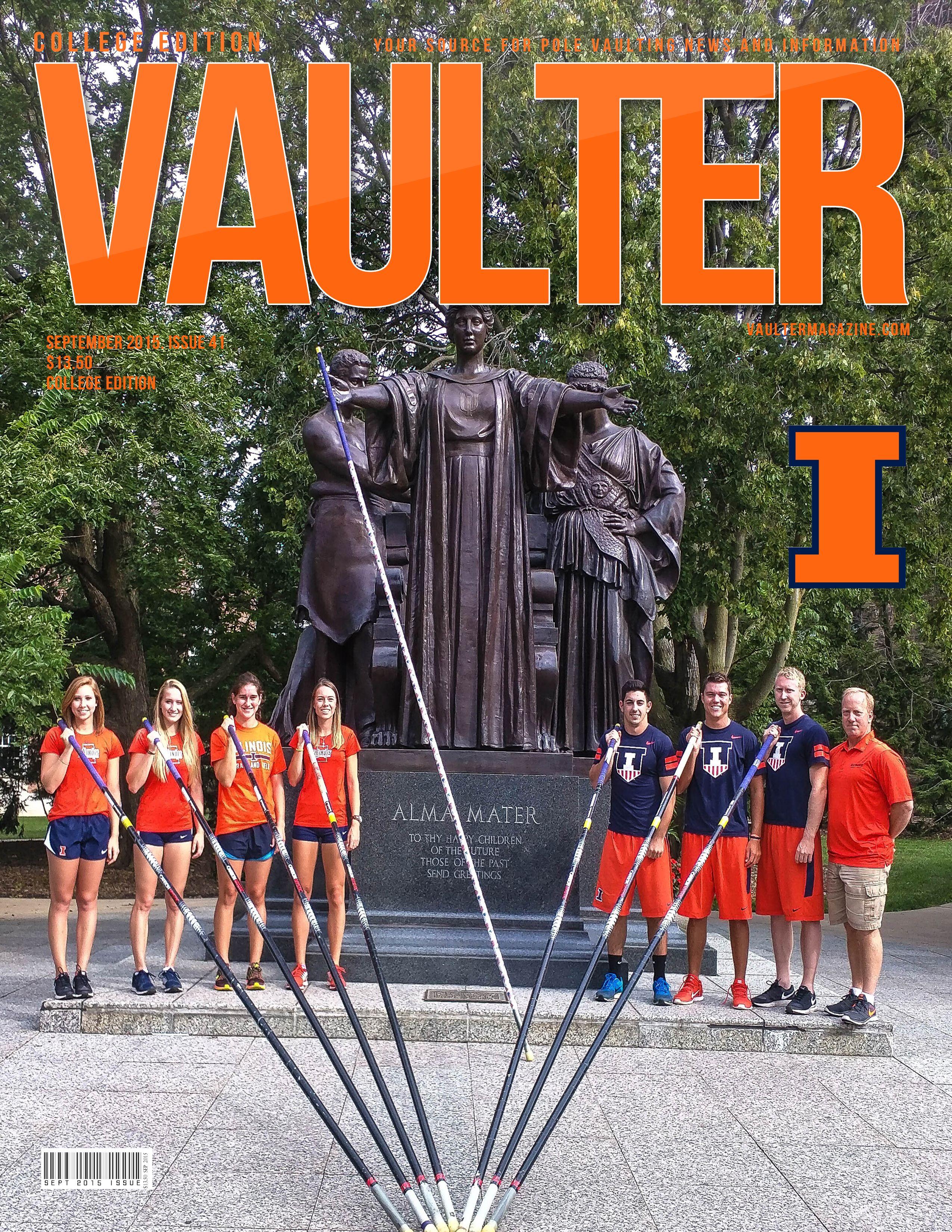 September Issue Of Vaulter Magazine On Sale Now University Of Illinois And Pole Vault Junkies Club Pole Vault Illinois University