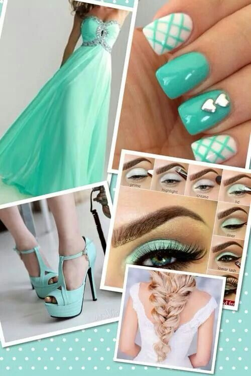 Love this color n the combination from head to toes