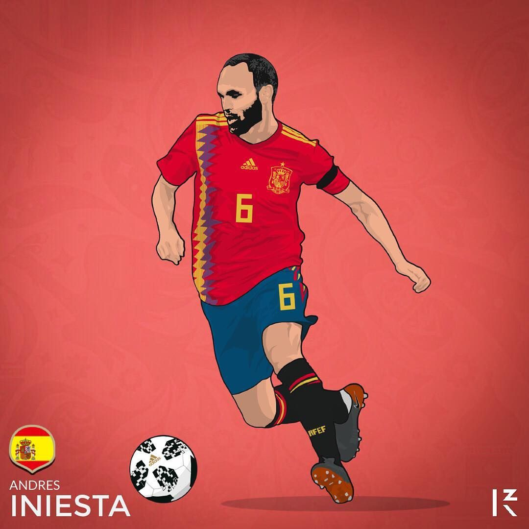 World Cup 2018 S Stars Iniesta Spain Viseelkobe Andresiniesta