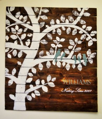 Family tree nesting birds do it yourself home projects from ana beautiful wood family tree sign customized and personalized 10 last minute diy wood gifts that you solutioingenieria Choice Image