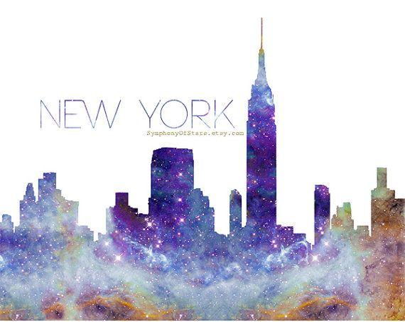 NYC Skyline Galaxy Universe Fine Art Print by SymphonyOfStars ...