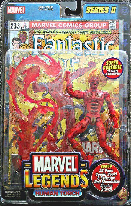 2005 Moc Flame-on Human Torch Toy Biz Fantastic 4