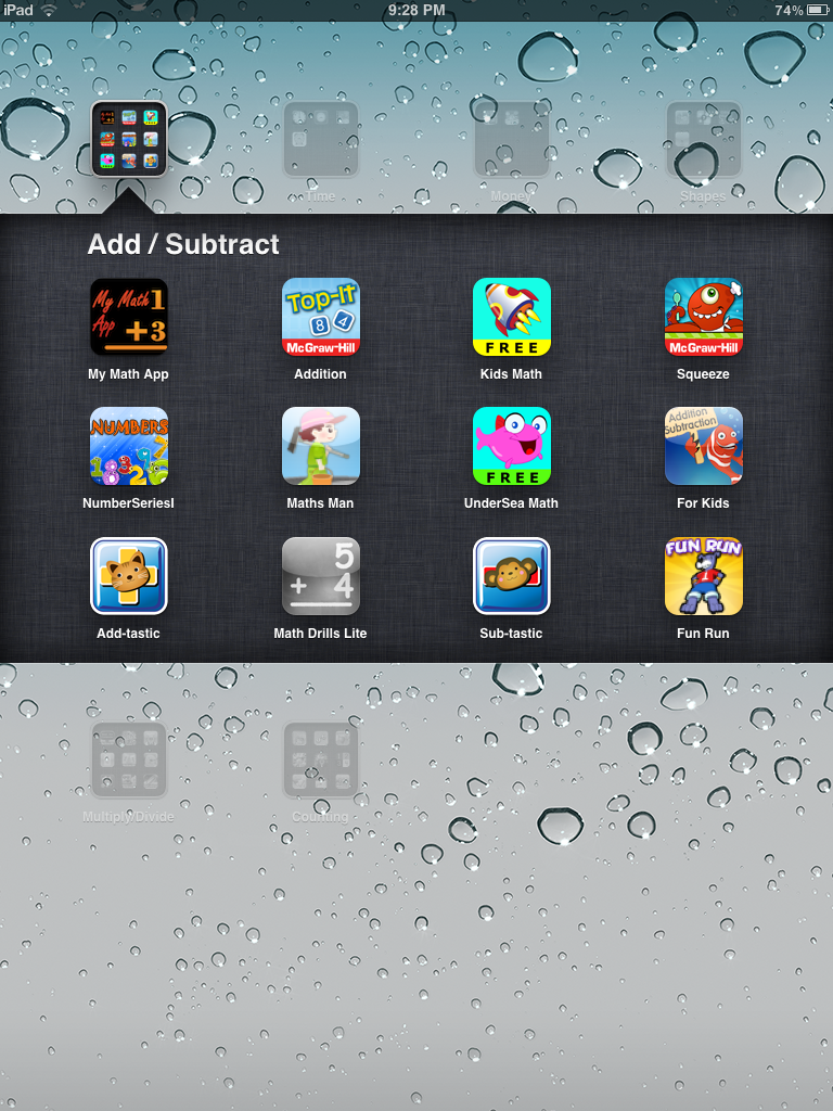 Screen shots - Apps for Elementary - Adding and Subtracting