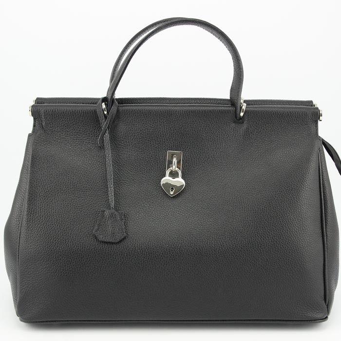 89f91ce7bfd1a Echt Leder Businesstasche italienische Ledertasche Handtasche Damen Italien  Schwarz Henkeltasche Business www.styleup.eu