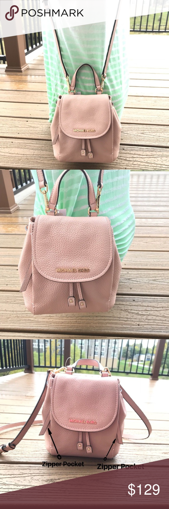 d2251cb1c36b07 Michael Kors Mini Riley Small Crossbody Rose Pink 100% Authentic Purchased  directly from Michael Kors