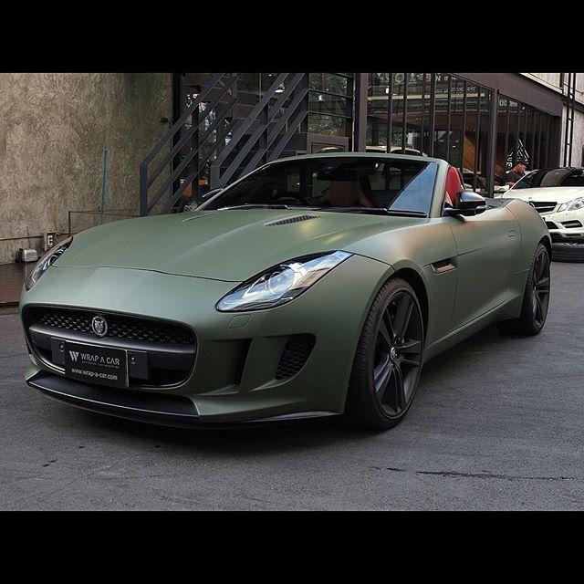 Jaguar F-Type Matte Military Green #Jaguar Military #3M