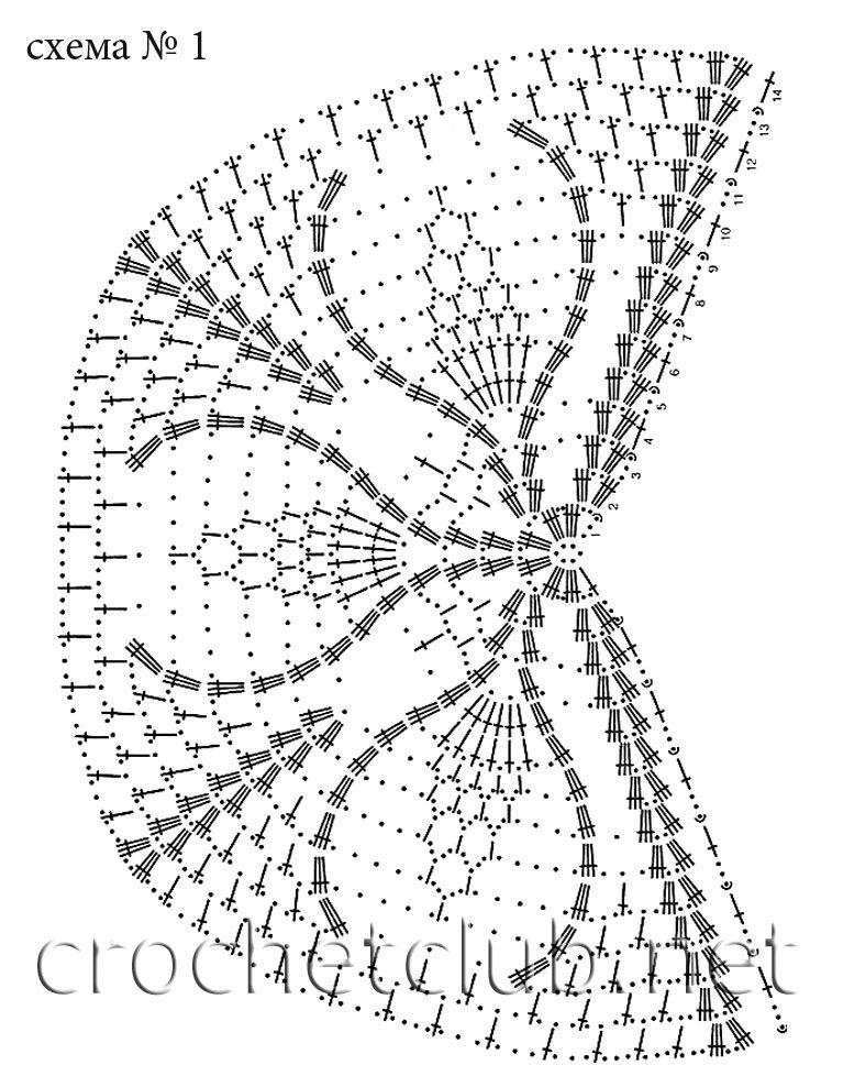 Вязанные шали со схемами крючком