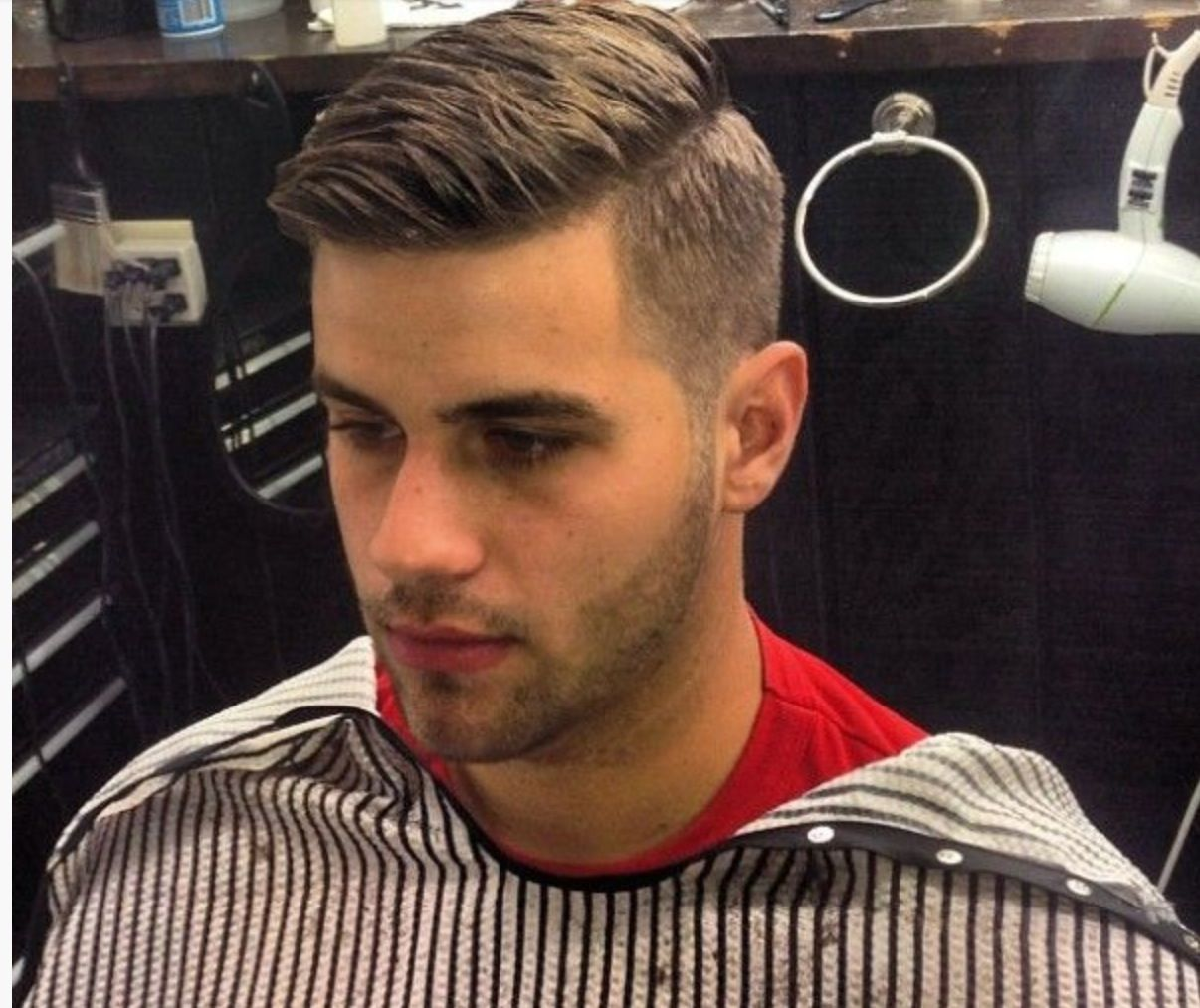 Haircuts for round faces men high taper disconnected menshairdesign grooming gqbarberlounge