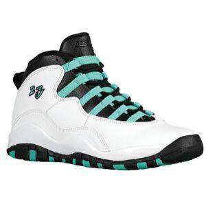 9c6c9449031 Jordan Retro 10 - Girls' Grade School - White/Verde/Black/Infrared ...