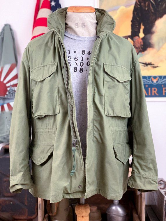 Vintage So Sew Styles Inc Military Authentic M65 Field Jacket 601abdf77