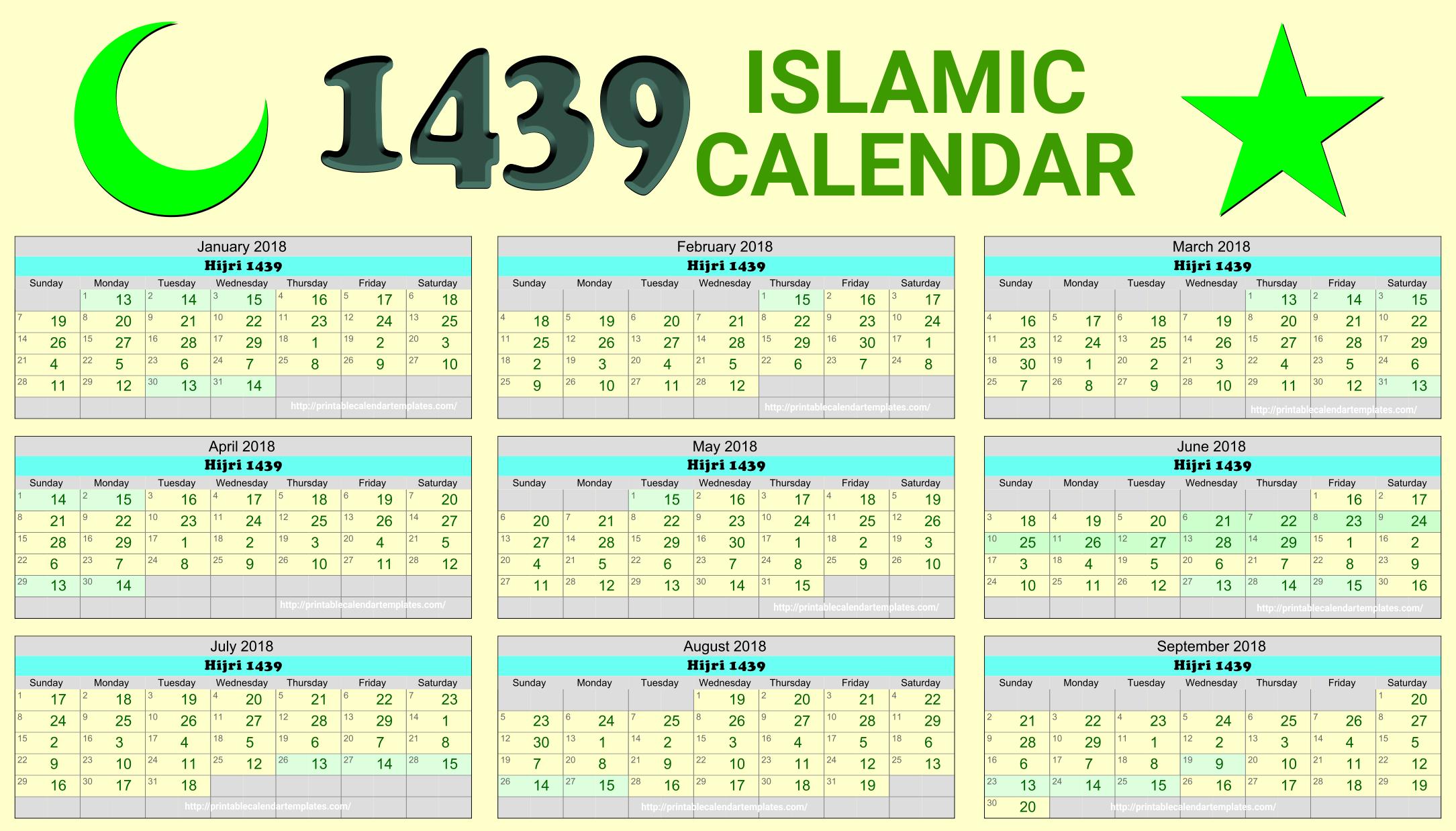 Ramzan Calendar 2018 Islamic Calendar Hijri Calendar Marketing Calendar Template