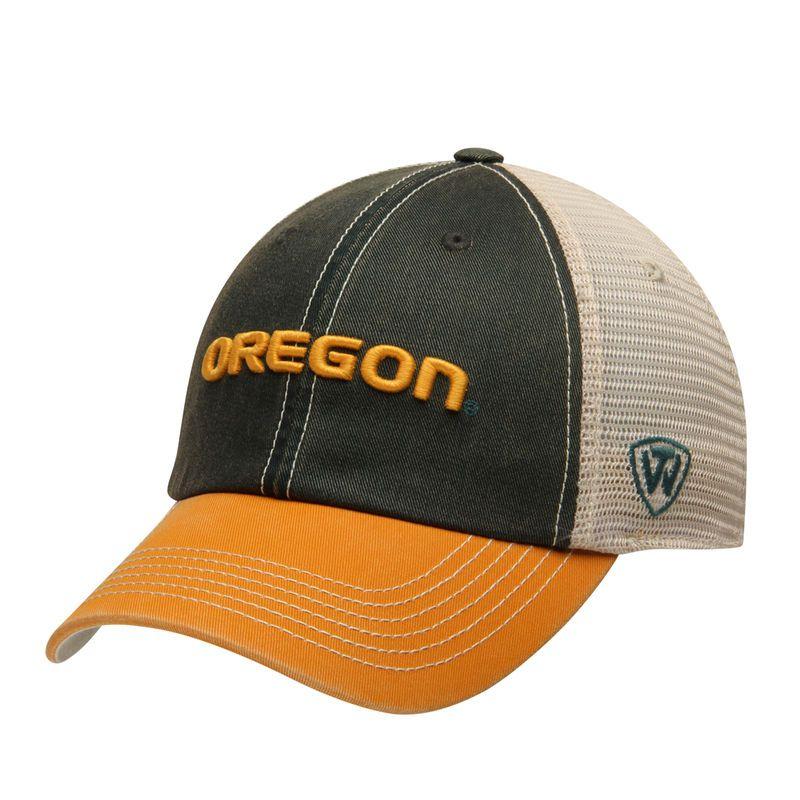 huge discount 2d131 0c911 Oregon Ducks Top of the World Offroad Trucker Adjustable Hat - Green