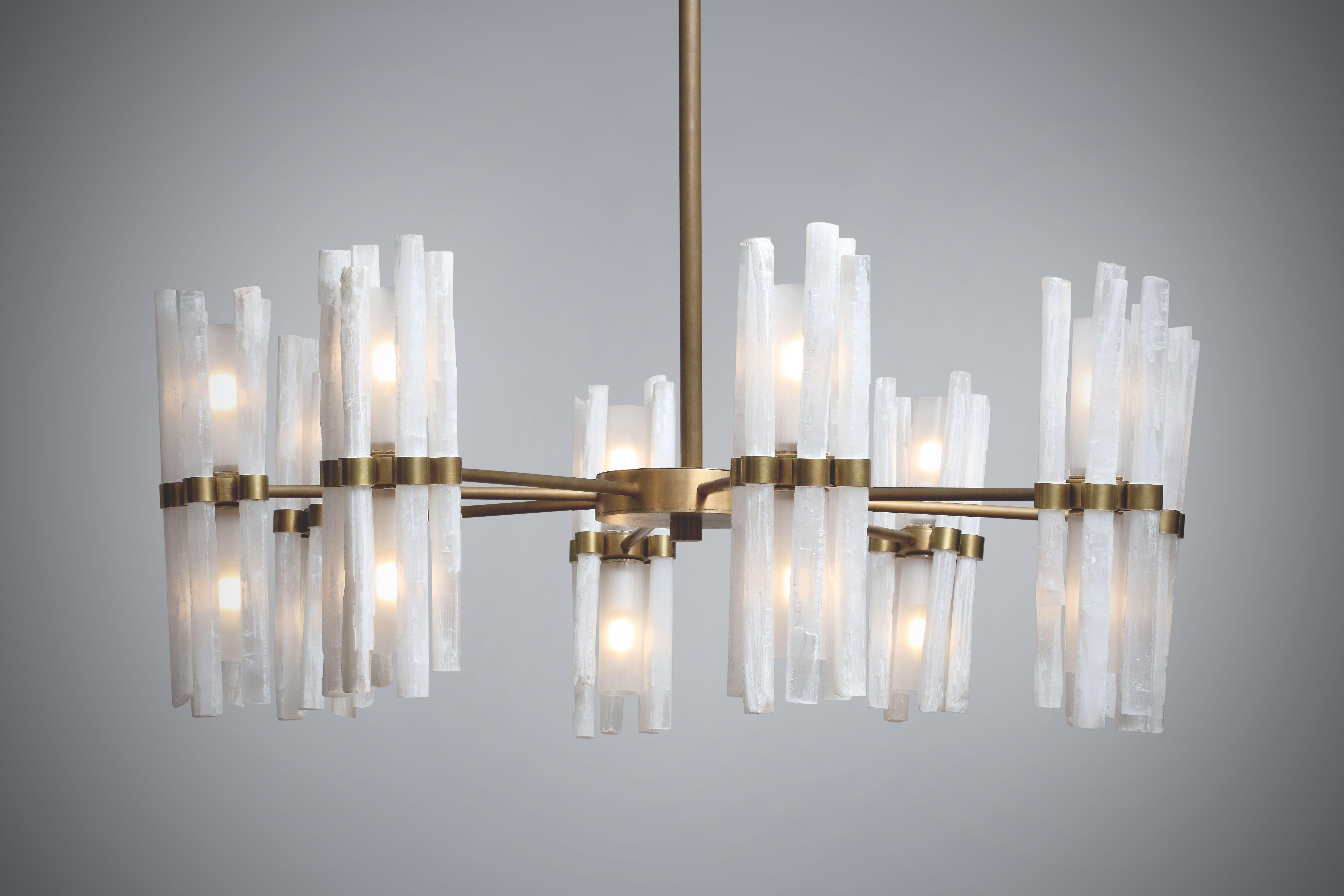 mid dering hall century contemporary chandelier chandeliers transitional starburst crystal modern rock organic