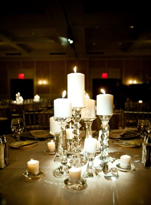 Wedding Candle Centerpieces | Beautiful Crystal Centerpieces For Rent Michigan Wedding Candle