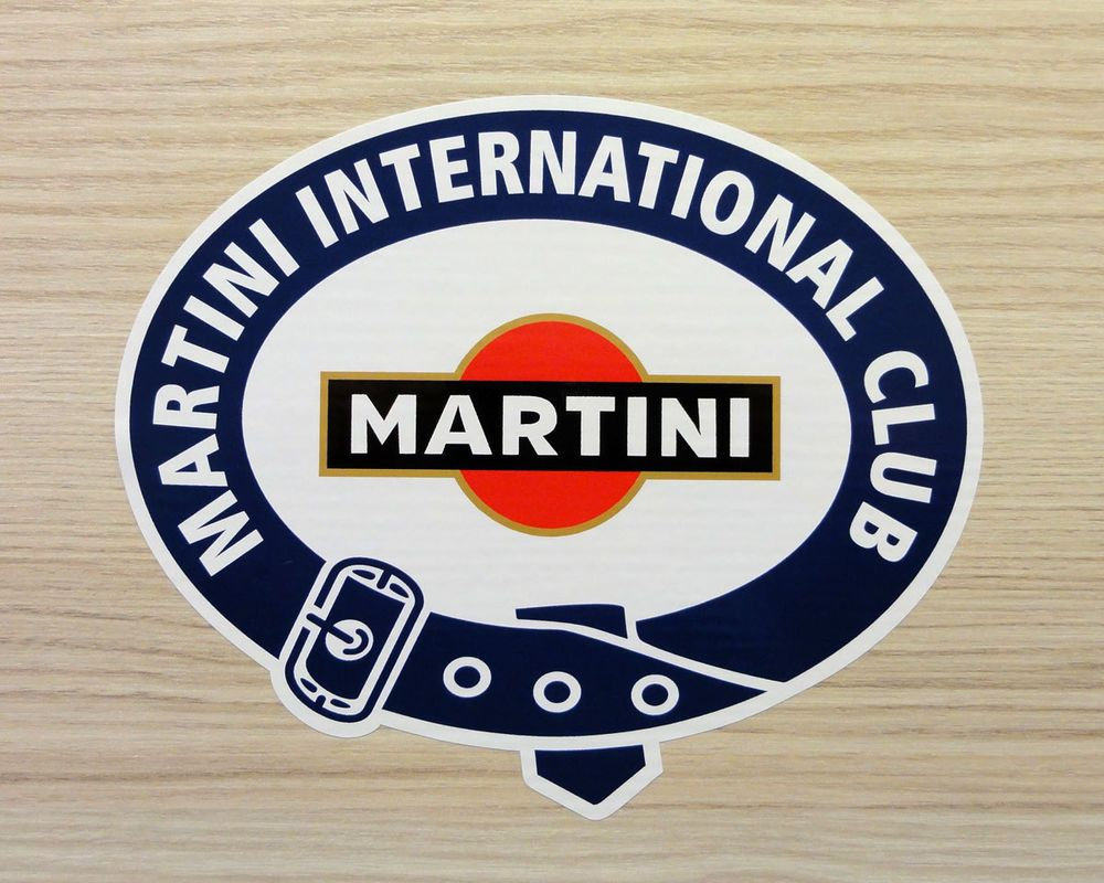 martini international club laminated motorsport sticker. Black Bedroom Furniture Sets. Home Design Ideas