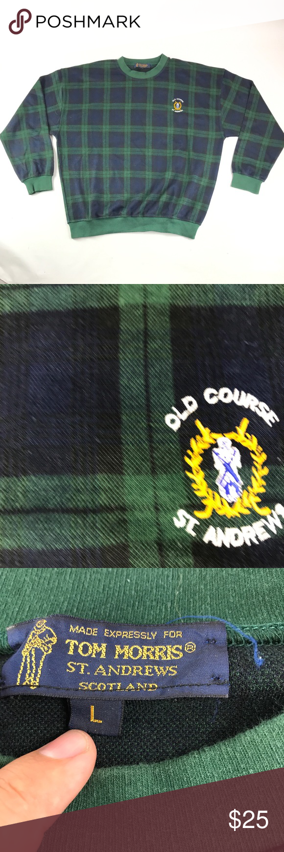 Tom Morris ST. Andrew Old Course Plaid Pullover Plaid
