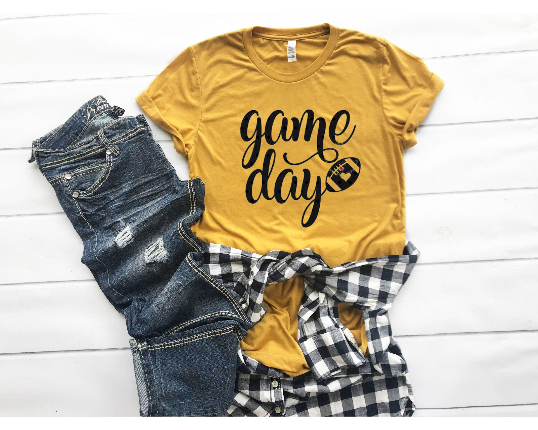 Game Day Unisex shirt - Mustard football shirt - G