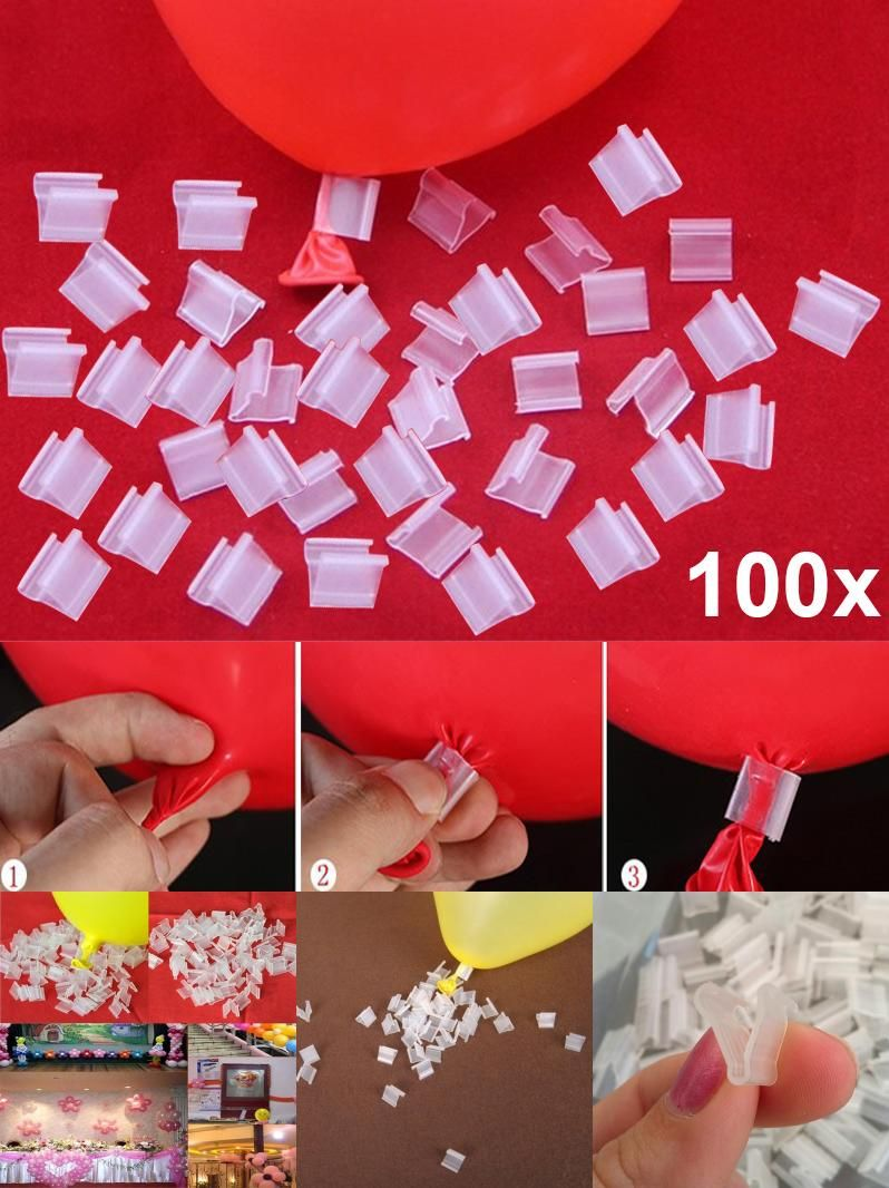 Visit to buy pcs latex balloon pvc clips balloons sealing clamps