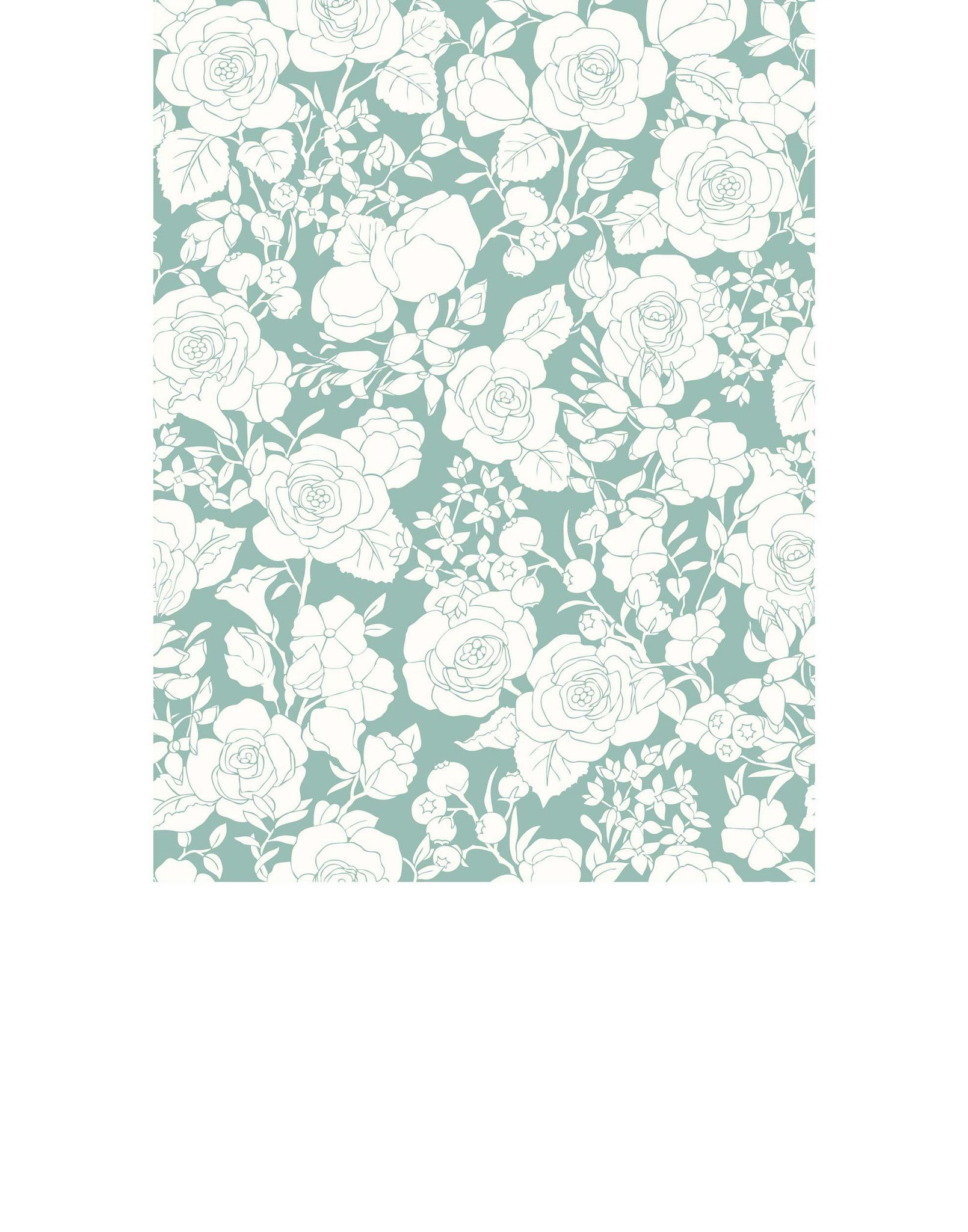 Removable Wallpaper Garden (Mint) Tile from Hygge Small