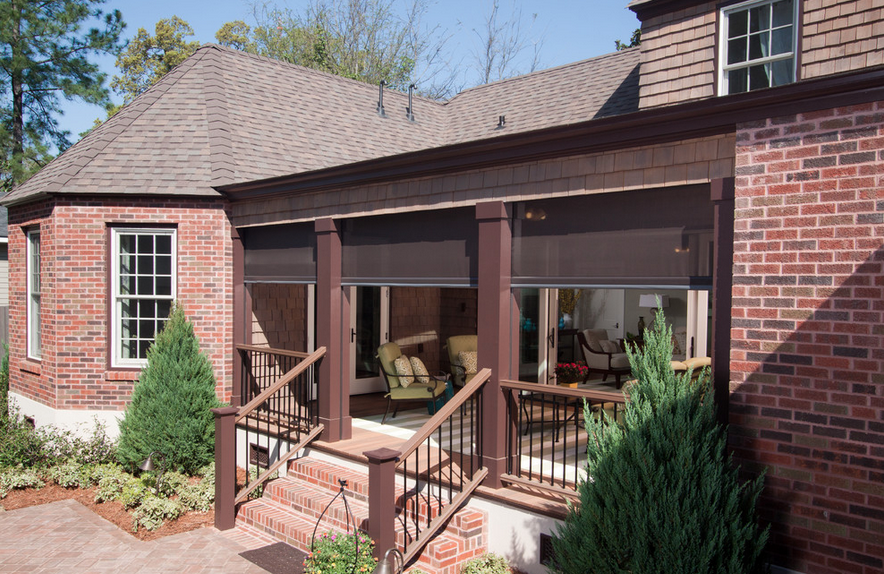 The tracks and housings of Phantom retractable screens are ...