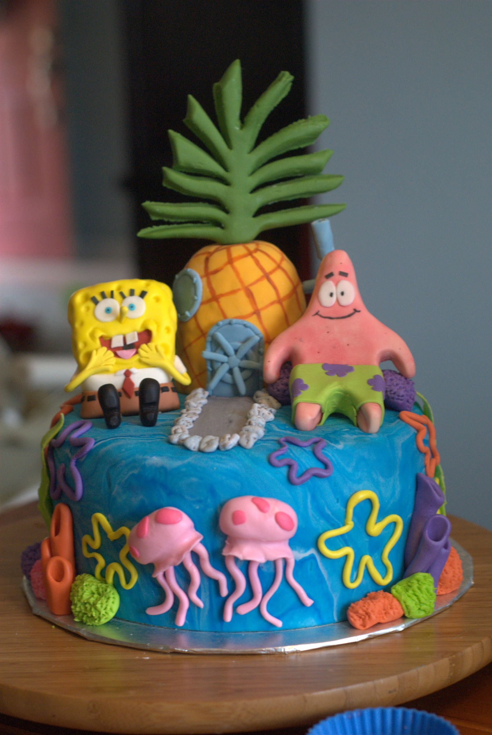 Creative Cakes By Ashley Spongebob Cake Cakes Pinterest