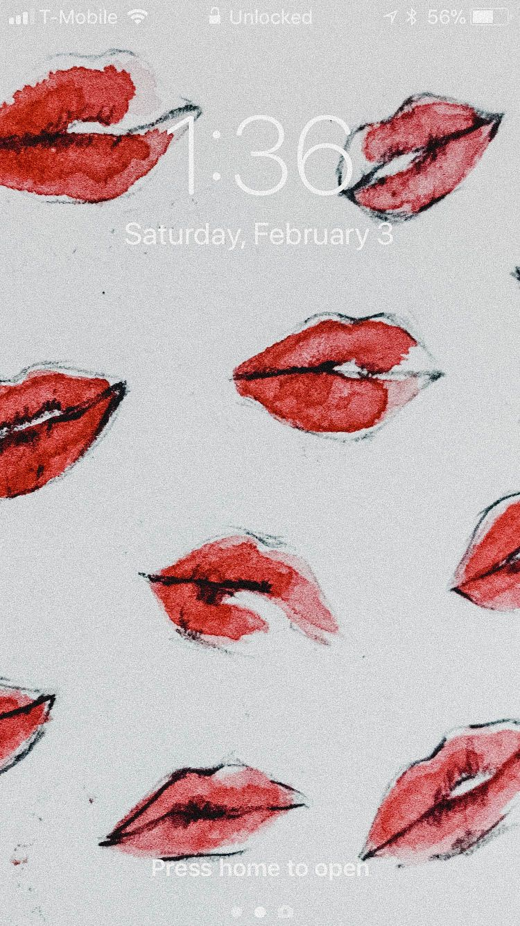 Illustration | Lip Wallpaper #lipswallpaper