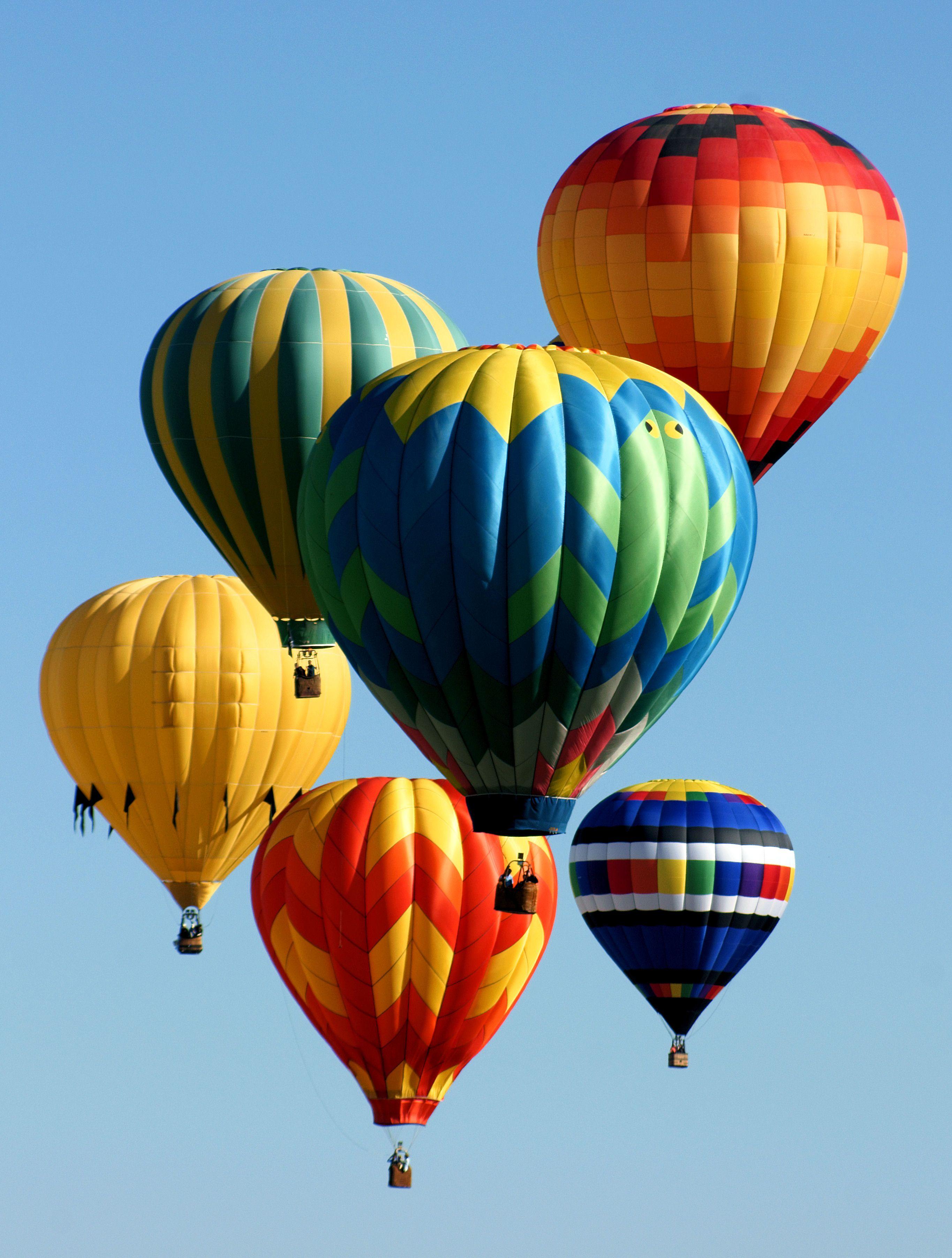 """Balloon Cluster!"" ABQ International Balloon Fiesta Air"