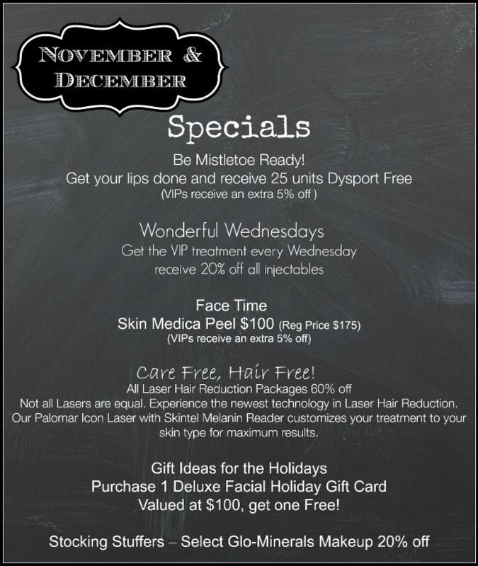 Great Holiday Special From Beautiful You Med Spa Located In Lexington Ky Aesthetic Clinic Medical Spa Spa Holiday
