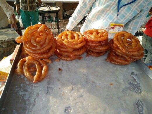 The big ass Jalebas being prepared fresh at the surajkund Mela '16 #photooftheday #postoftheday #oneplus #cellphonephotography #surajkund #delhi