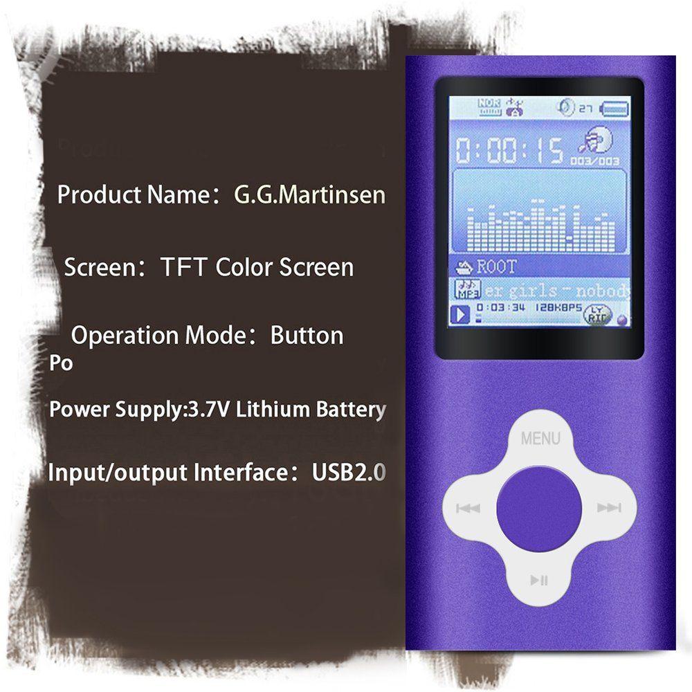 G.G.Martinsen Plum Button 1.78 LCD Screen MP3/MP4 8 GB