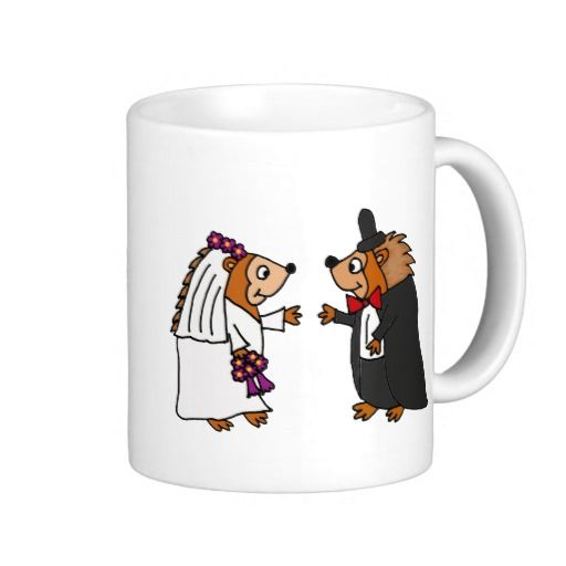 Funny Bride And Groom Hedgehog Wedding Art Funny Bride Wedding Art Bride Bridal