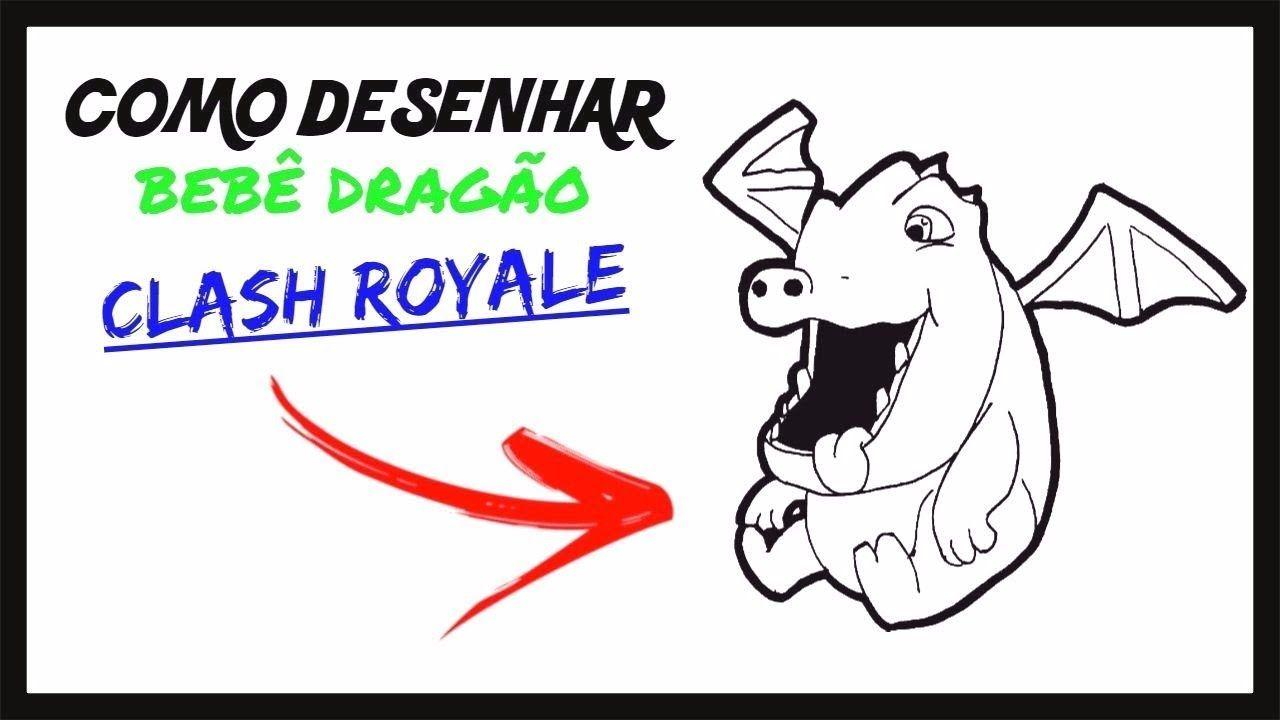 como desenhar o bebe dragao clash royale meu canal youtube