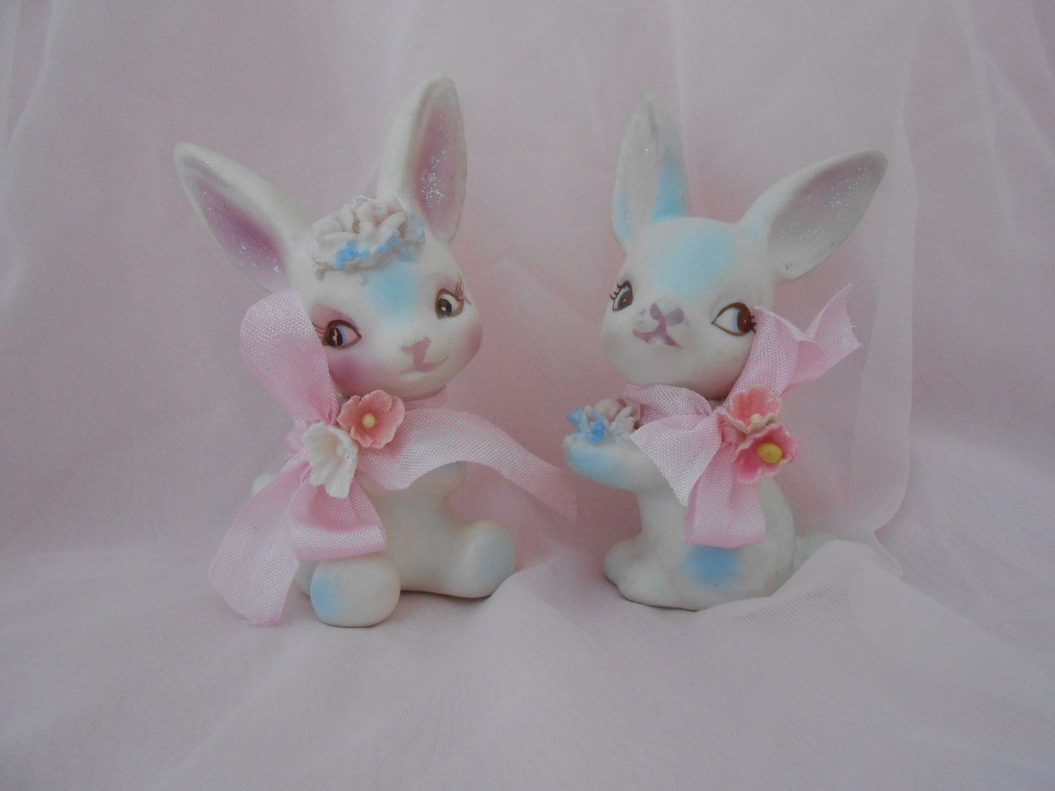 Vintage Easter Bunnies  Adorable Shabby Chic