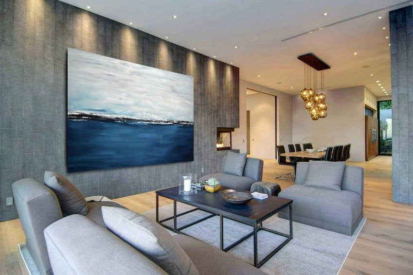 abstract 40x60 wall art original seascape oil painting on wall paintings id=58882