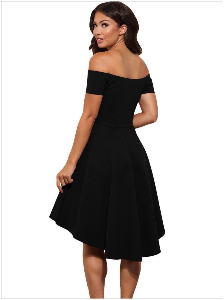 Cute Elegant Off Shoulder Party Dresses Skater Dress Formal Dress ... 814f31884
