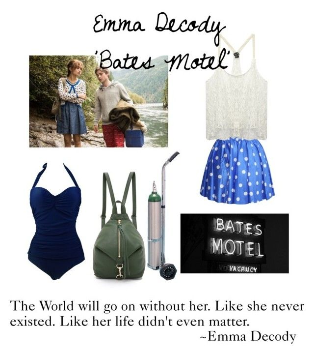 """Emma Decody 'Bates Motel'"" by madisonxox ❤ liked on Polyvore featuring Wet Seal, Vintage One and Rebecca Minkoff"