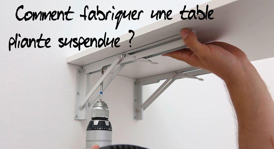 Comment Fabriquer Une Table Pliante Suspendue Table Pliante Rangement Ustensiles Cuisine Suspendu