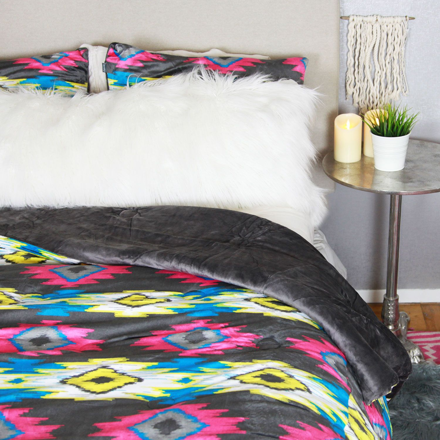 bedding westernbedding comforter turquoise cabin southwestern sets place aztec chamarro htm