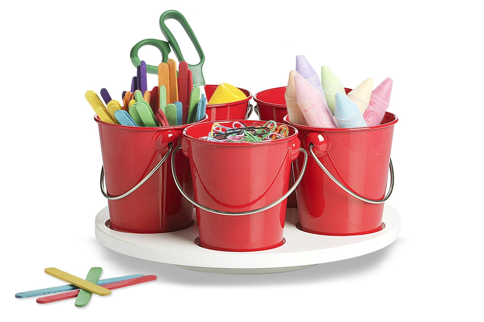Mini Bucket Craft Turntable, good idea!