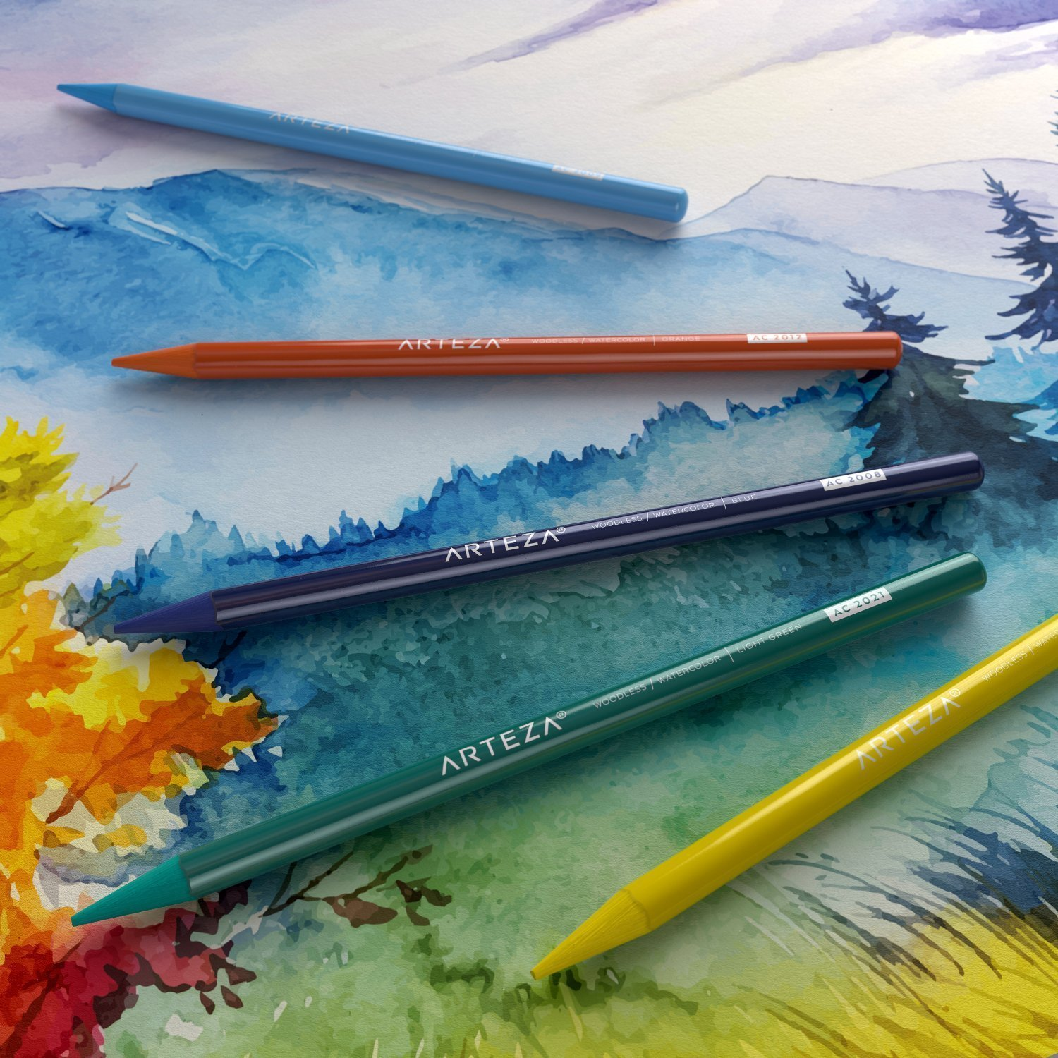Woodless Pencil Lover S Bundle Watercolor Pencils Watercolor