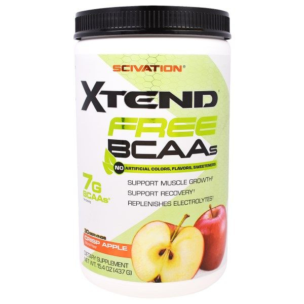 Scivation Xtend Free Bcaas Crisp Apple 15 8 Oz 450 G Discontinued Item Yabloki Tovary Dlya Zdorovya Zdorove