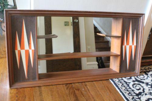 Retro Vintage Turner Wall Accessory Shadowbox Mirror