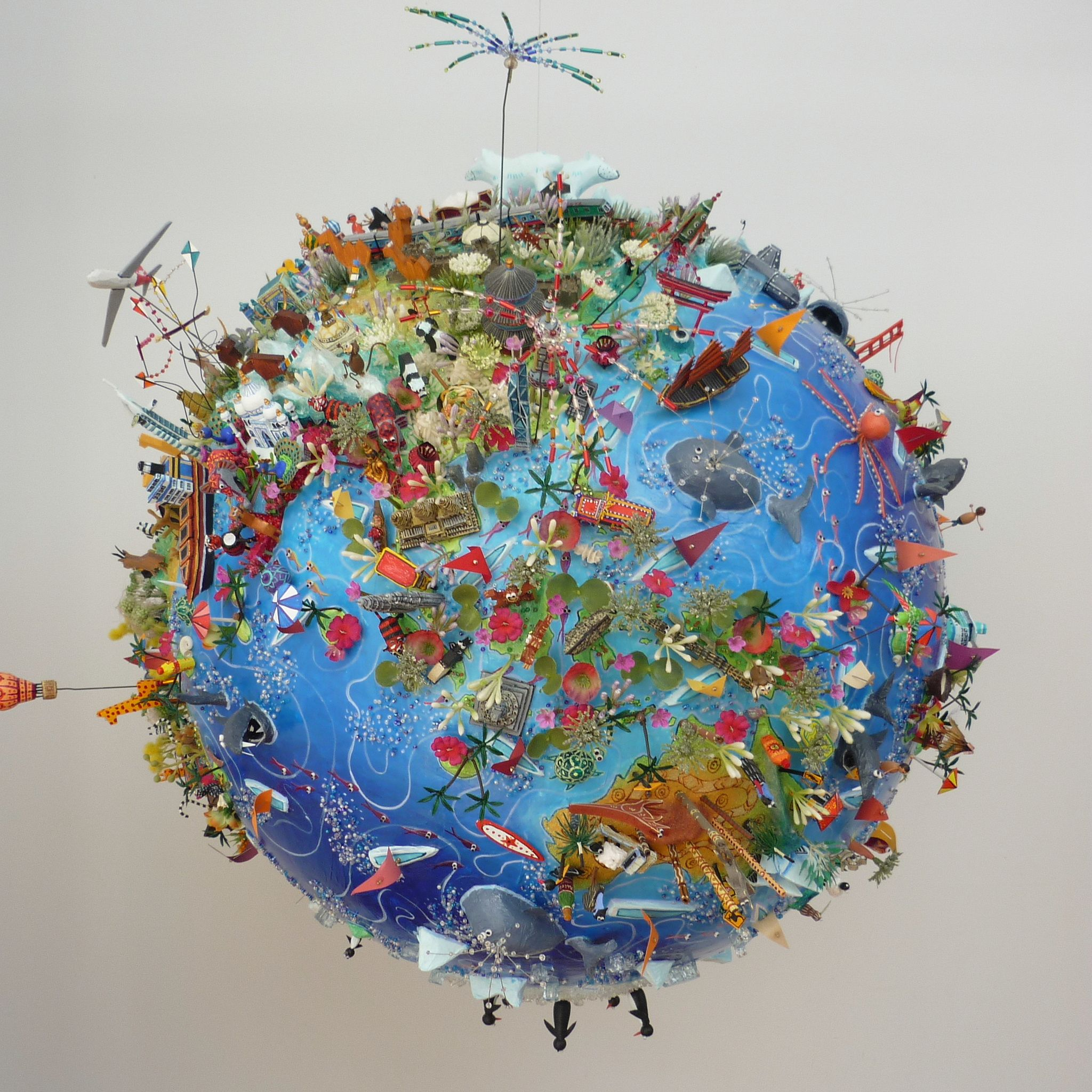 Map Of Asia 3d.Sara Drake Large 3d Globe Asia In 2019 Art 3d Globe Cartoon