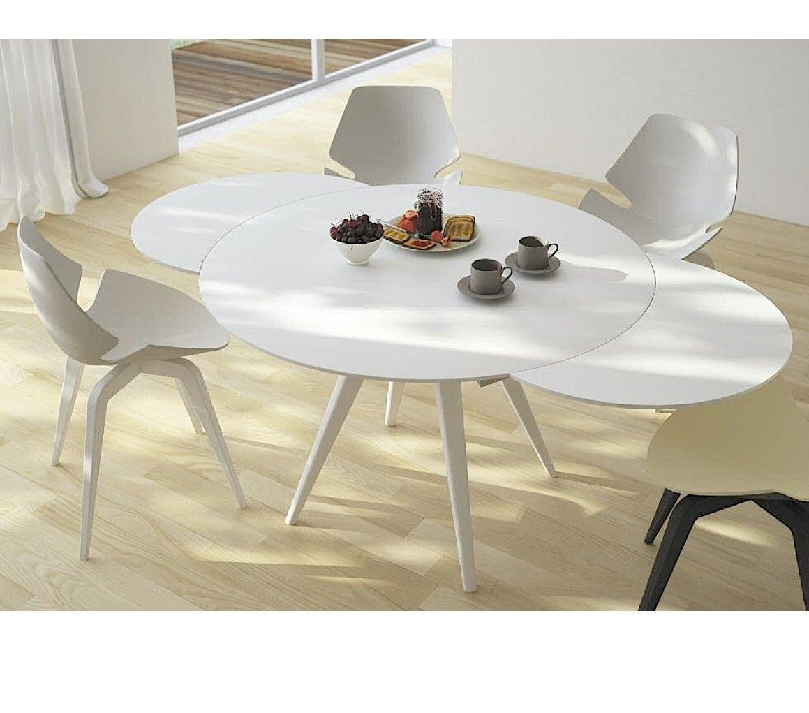 Round Extendable Dining Table And