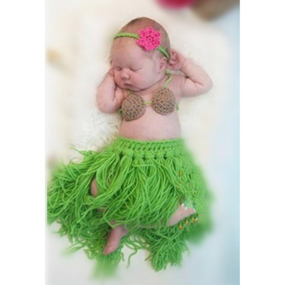 Amazon.com  Bebé Niña Niño recién nacido 0-3 meses 2pcs Tejidos Crochet  Ropa apoyo de la foto Looks  Bebé fe7249c93fb